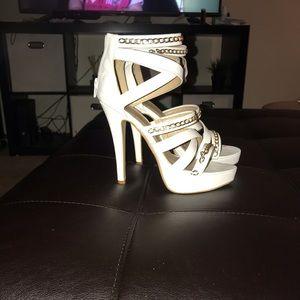 Cross cross heels